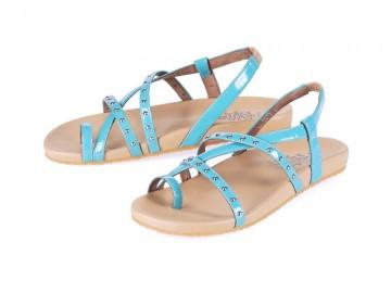 รูปด้านหน้า รองเท้าแตะเพื่อสุขภาพผู้หญิง Klas & Sylph กันน้ำ รุ่น Shelly สีฟ้า
