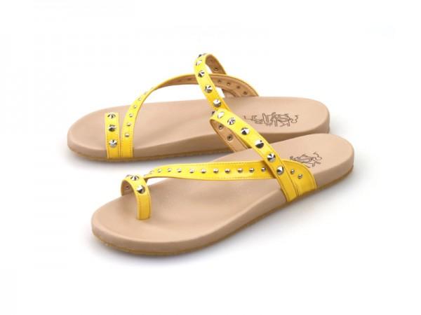 รูปด้านหน้า รองเท้าแตะเพื่อสุขภาพผู้หญิง Klas & Sylph กันน้ำ รุ่น Lexie สีเหลือง