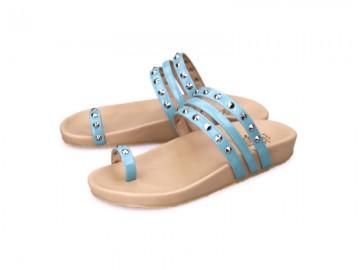 รูปด้านหน้า รองเท้าแตะเพื่อสุขภาพผู้หญิง Klas & Sylph กันน้ำ รุ่น Lexie สีฟ้า ลดอาการปวดรองช้ำ ปวดส้นเท้า