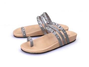 รูปด้านหน้า รองเท้าแตะเพื่อสุขภาพผู้หญิง Klas & Sylph กันน้ำ รุ่น Sasha สีเทา ลดอาการปวดรองช้ำ ปวดส้นเท้า