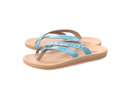 ภาพด้านหน้า รองเท้าแตะเพื่อสุขภาพ Klas & Sylph กันน้ำแบบหูคีบ รุ่น Sienna สีฟ้า พื้นนุ่มสบาย
