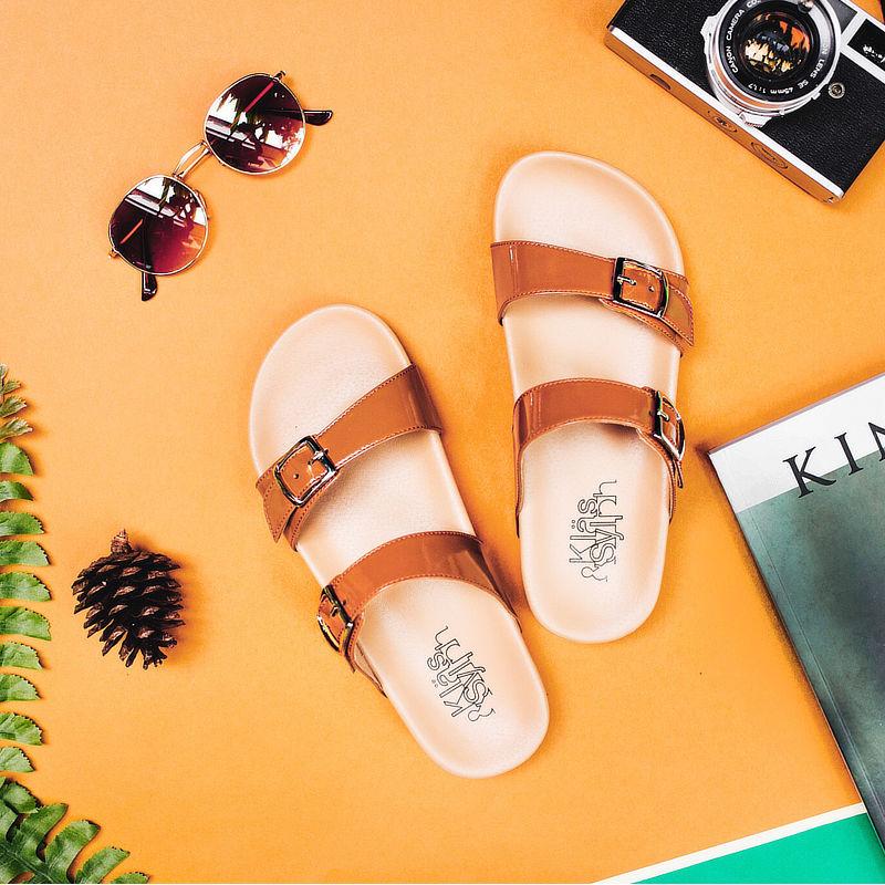 รองเท้าแตะเพื่อสุขภาพกันน้ำ Klas & Sylph รุ่น Alison สีน้ำตาล