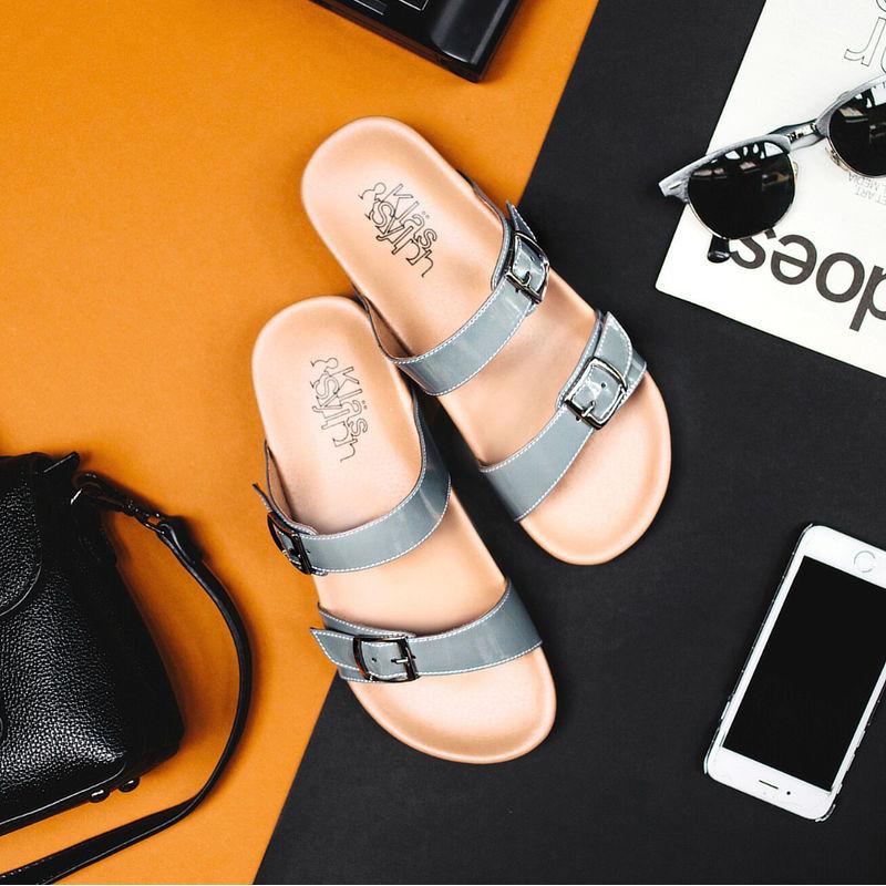 รองเท้าแตะเพื่อสุขภาพกันน้ำ Klas & Sylph รุ่น Alison สีเทา