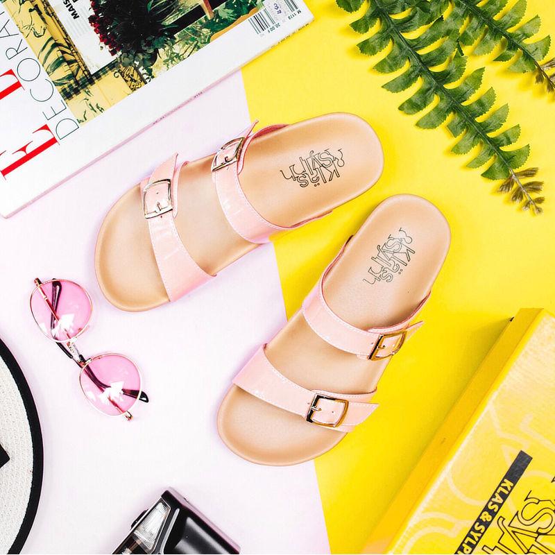รองเท้าแตะเพื่อสุขภาพกันน้ำ Klas & Sylph รุ่น Alison สีชมพูอ่อน