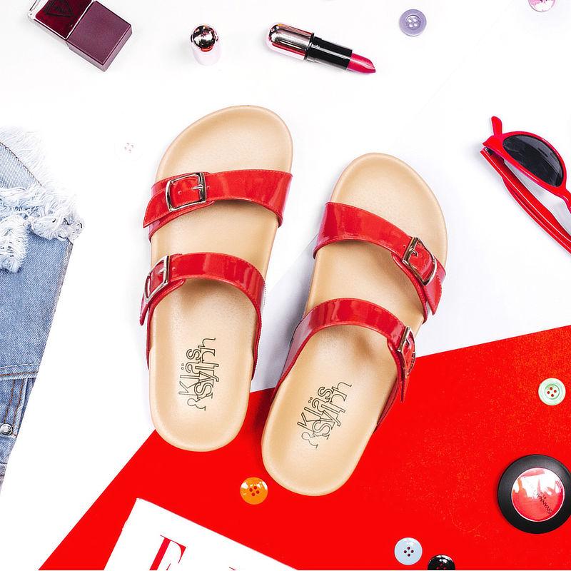 รองเท้าแตะเพื่อสุขภาพกันน้ำ Klas & Sylph รุ่น Alison สีแดง