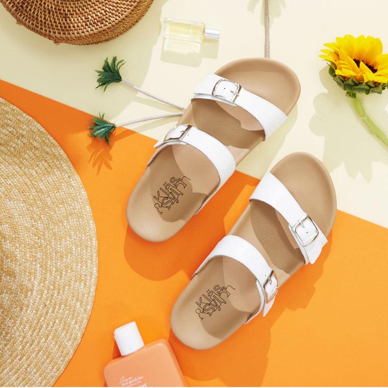 รองเท้าแตะเพื่อสุขภาพ Klas & Sylph รุ่น Alison สีขาว
