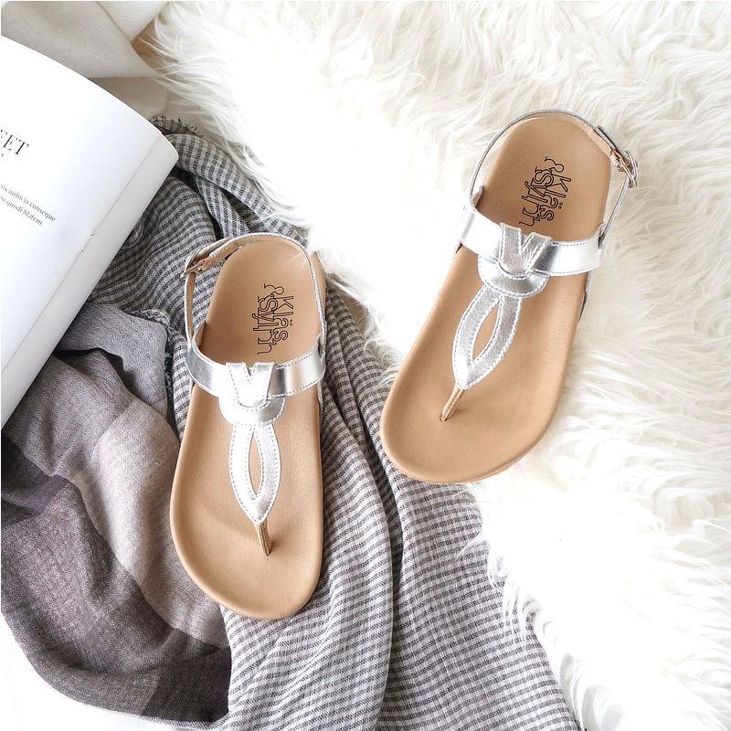 รองเท้าแตะเพื่อสุขภาพ Klas & Sylph รุ่น Athena สีเงิน