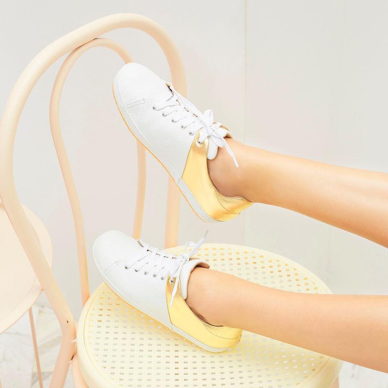 รองเท้าผ้าใบเพื่อสุขภาพ Klas & Sylph รุ่น Brooklyn สีทอง