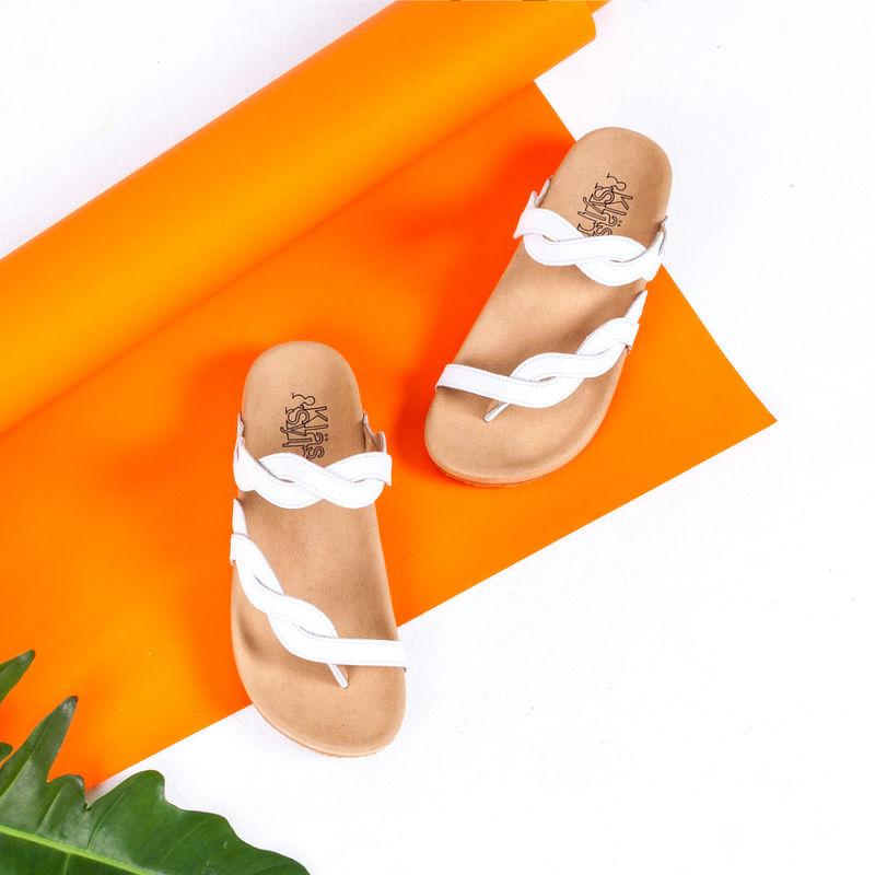 รองเท้าแตะเพื่อสุขภาพ Klas & Sylph รุ่น Elena สีขาว