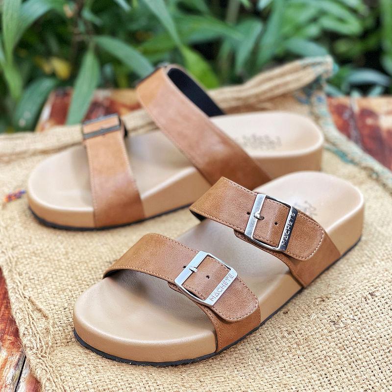 รองเท้าแตะเพื่อสุขภาพผู้ชาย Klas & Sylph รุ่น Mimosa สีน้ำตาล