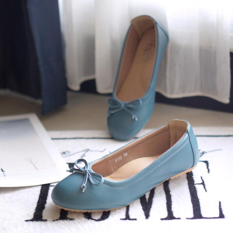 รองเท้าส้นเตี้ยเพื่อสุขภาพ Klas & Sylph รุ่น Paris สี Airforce Blue