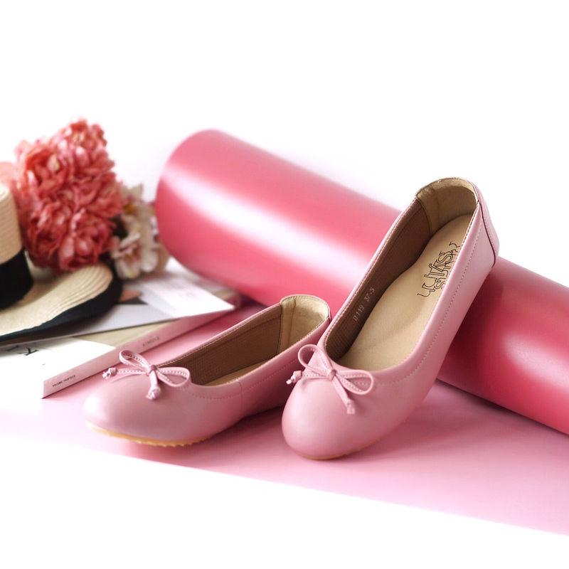 รองเท้าส้นเตี้ยเพื่อสุขภาพ Klas & Sylph รุ่น Paris สีทอง