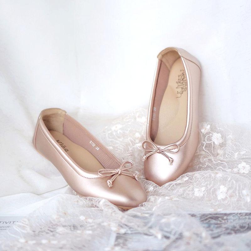 รองเท้าส้นเตี้ยเพื่อสุขภาพ Klas & Sylph รุ่น Paris สี Ovaltine