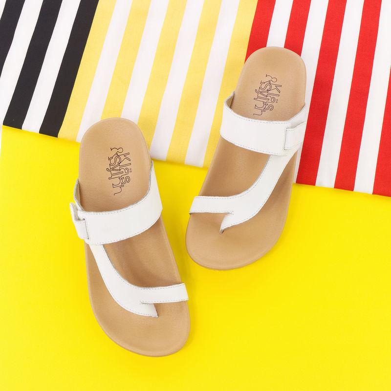 รองเท้าแตะเพื่อสุขภาพ Klas & Sylph รุ่น Tracy สีขาว